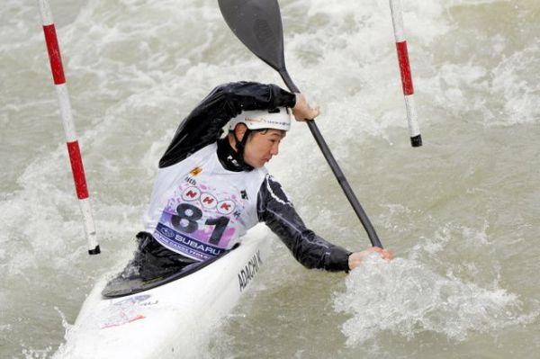 東京五輪代表に内定した男子カヤックシングルの足立和也選手。