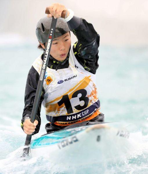 東京五輪代表に内定した女子カナディアンシングルの佐藤彩乃選手。
