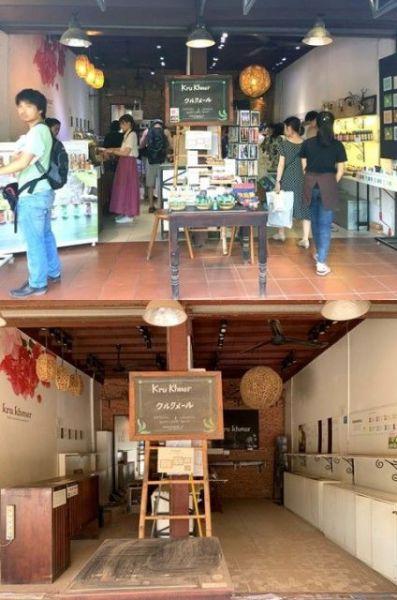 コロナ前ににぎわっていた直営店(上)は休業に追い込まれた。久しぶりにシャッターを開けると、店内はホコリをかぶっていたという(下)=同社提供
