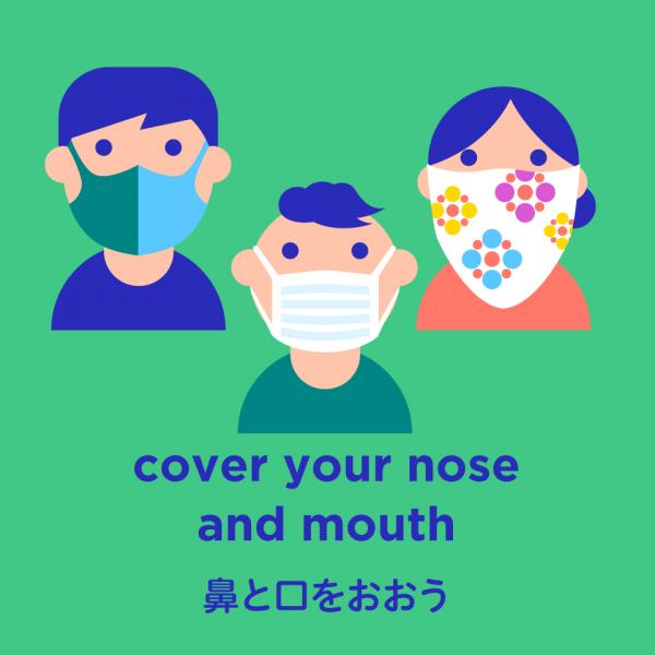 鼻と口をおおう
