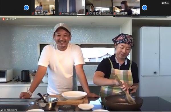 迎えてくれた、「佐渡相田ライスファーミング」を営む相田忠明さん(左)ご夫婦