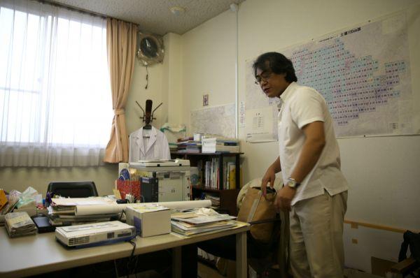 二本松市にある獨協医科大学国際疫学研究室福島分室=2020年9月、福島県二本松市若宮、三浦英之撮影