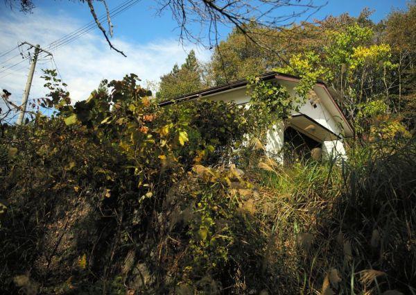 赤宇木集落の集会場=2020年10月、福島県浪江町、三浦英之撮影