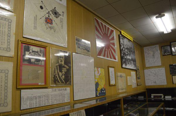 日露戦争当時の展示