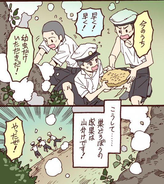 漫画「蜂の子の採り方」