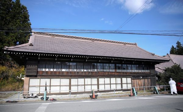 津島の名家として知られた石井さんの自宅=2020年10月、福島県浪江町、三浦英之撮影