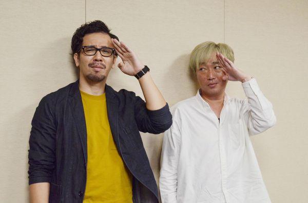 スピードワゴンの小沢一敬さん(右)とコラムニストのウイさん
