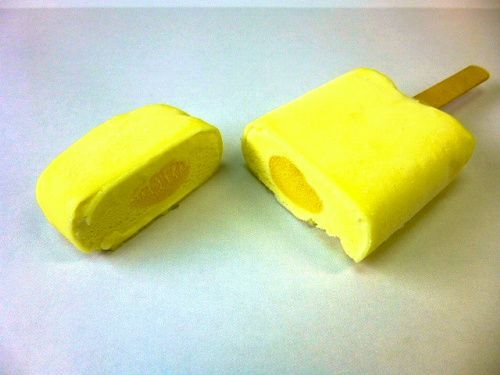 サークルKサンクスが売り出す「レモン牛乳アイスバー」