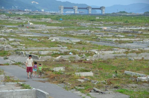 岩手県大槌町で立ち食いそば屋の「大光そば」を経営する佐々木光義がUターンした頃の大槌町(2012年8月)