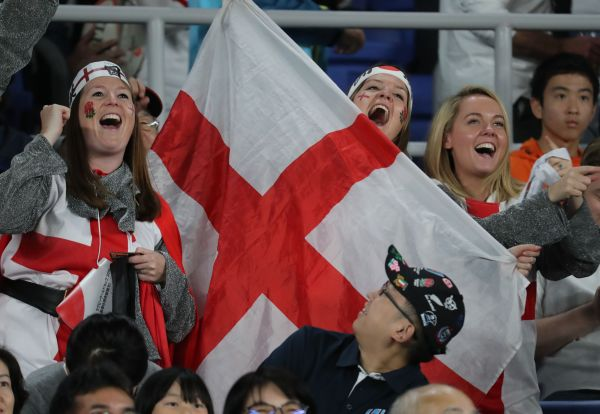ラグビー日本W杯でのイングランドのファン