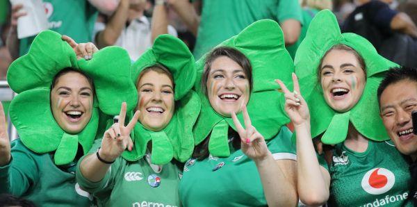 ラグビー日本W杯でのアイルランドのファン