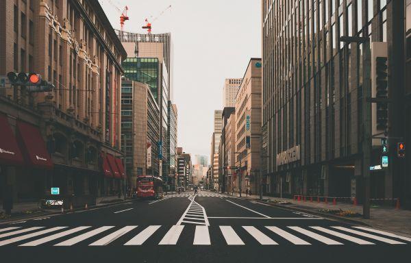 静寂が包む日本橋