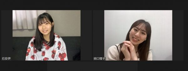 オンラインでのインタビューで話す、石安伊さん(左)と坂口理子さん