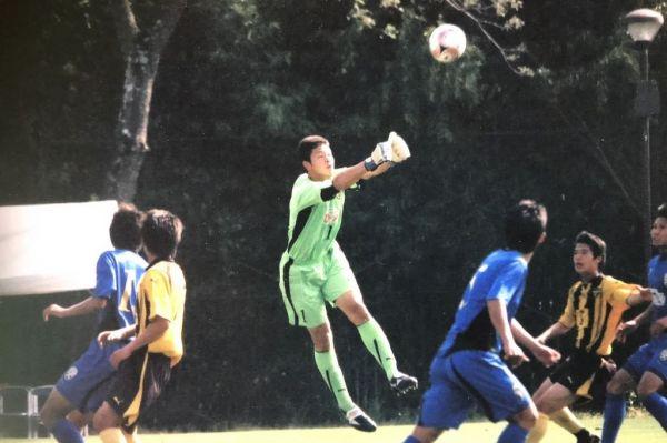 熊本・大津高時代の藤嶋。レギュラーとして、試合に出ていた