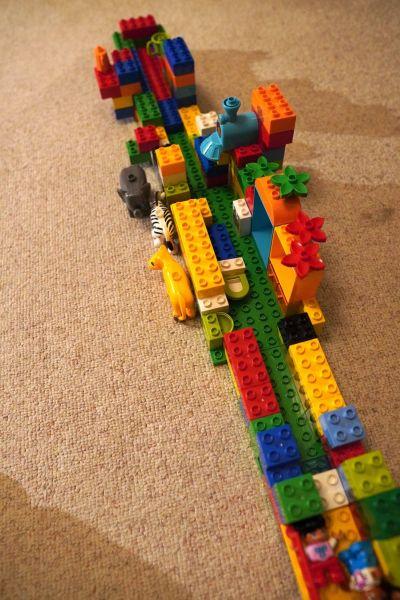 4歳の長男が作ったレゴブロック。(再撮影)