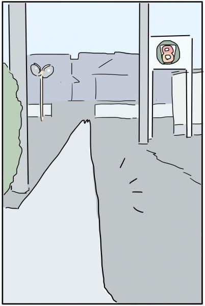 漫画「明け方にコンビニに行く話」