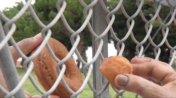 沖縄で制作された、米軍基地をめぐる映像作品。『完璧なドーナツをつくる』