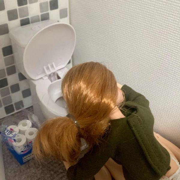 「二日酔いで家のトイレとお友達の現実を生きるリカちゃん」