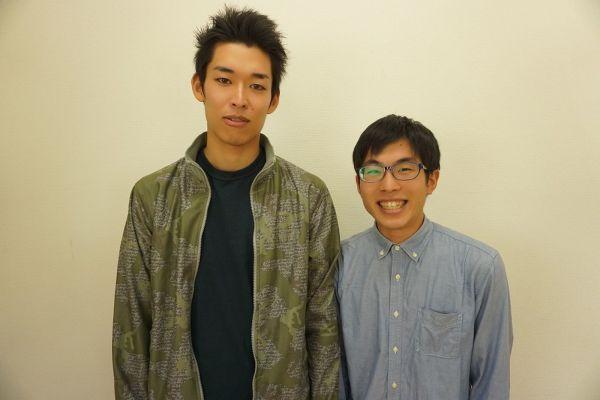 2015年、結成時の上村さんと榎本さん