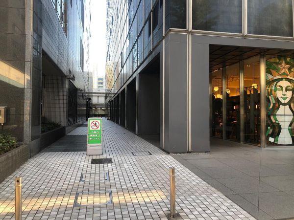 田町の社会実験の場所=株式会社グランドレベル提供