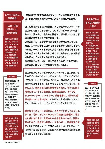 スピーチライターの千葉佳織さんが分析したバッハ会長のスピーチ②「メリットがない原稿構成」「本大会でしか言えない言葉が少ない」などと指摘