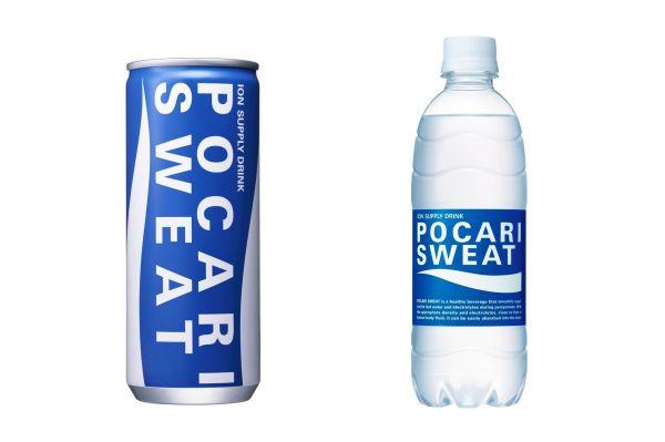 ポカリスエットの缶とペットボトル