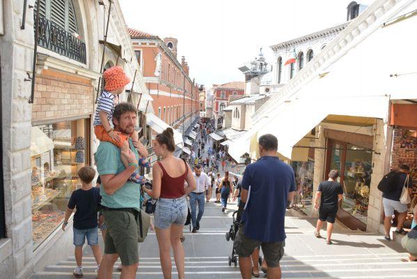 ベネチアの街中の様子