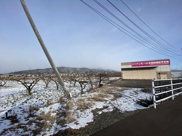 「イオンモール北福島(仮称)」の建設予定地。「インターチェンジも近くて便利」(イオえもんさん)