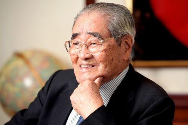イオン創業者の岡田卓也・イオングループ名誉会長=2018年6月