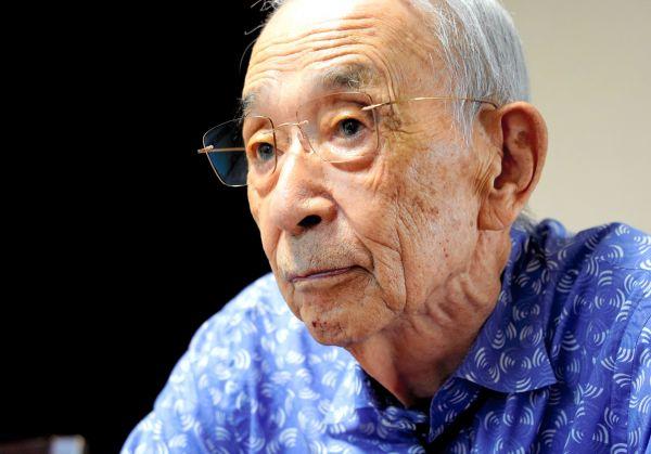 満州事変の夜を語る101歳の先川祐次さん=2021年9月16日、福岡市西区、三浦英之撮影