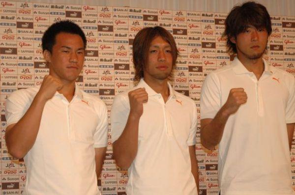 北京五輪代表の山本海人(右)。当時は清水に所属していた