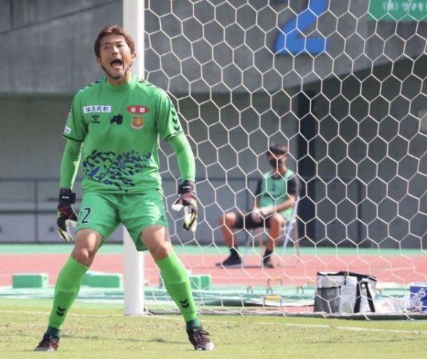 元日本代表の山本海人。J3で若手を鼓舞する(C)Fukushima united FC