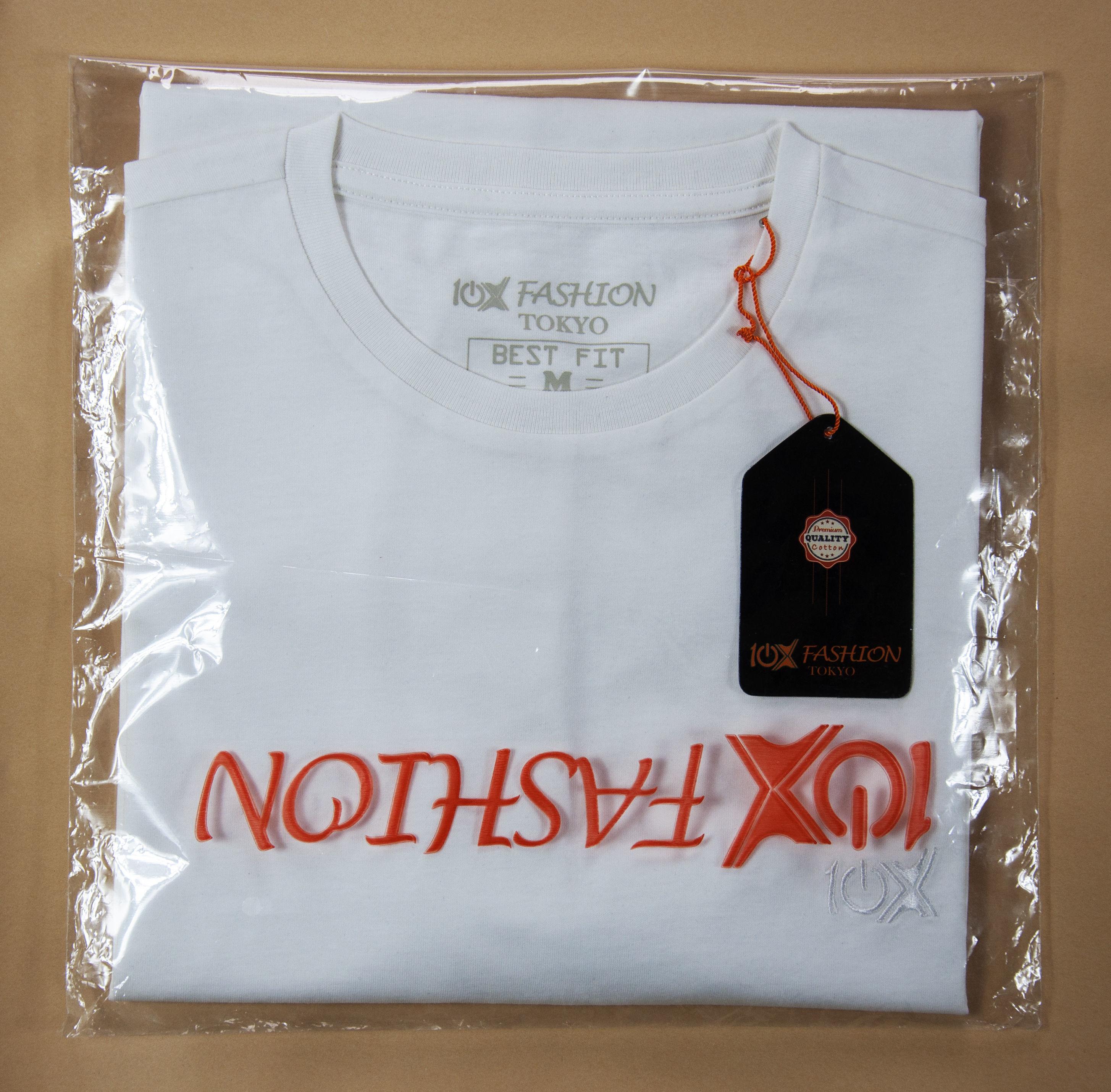 【SALE】(10Xファッション東京) 10X FASHION TOKYO 無地 Uネック 半袖 コットン Tシャツ メンズ ( 白  S, M, L )【70% OFF】
