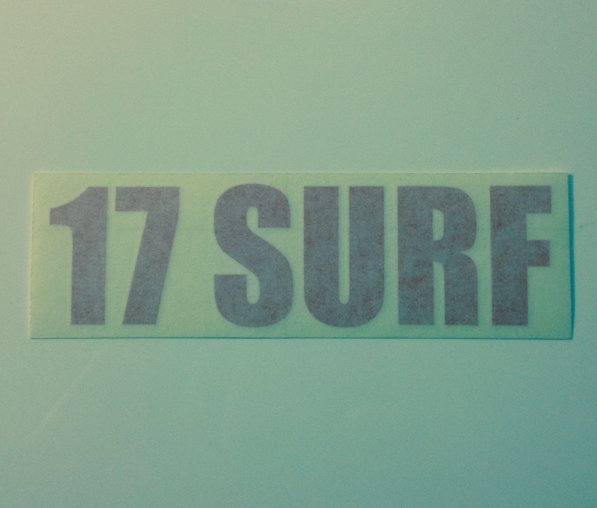 17SURF ステッカー レッド