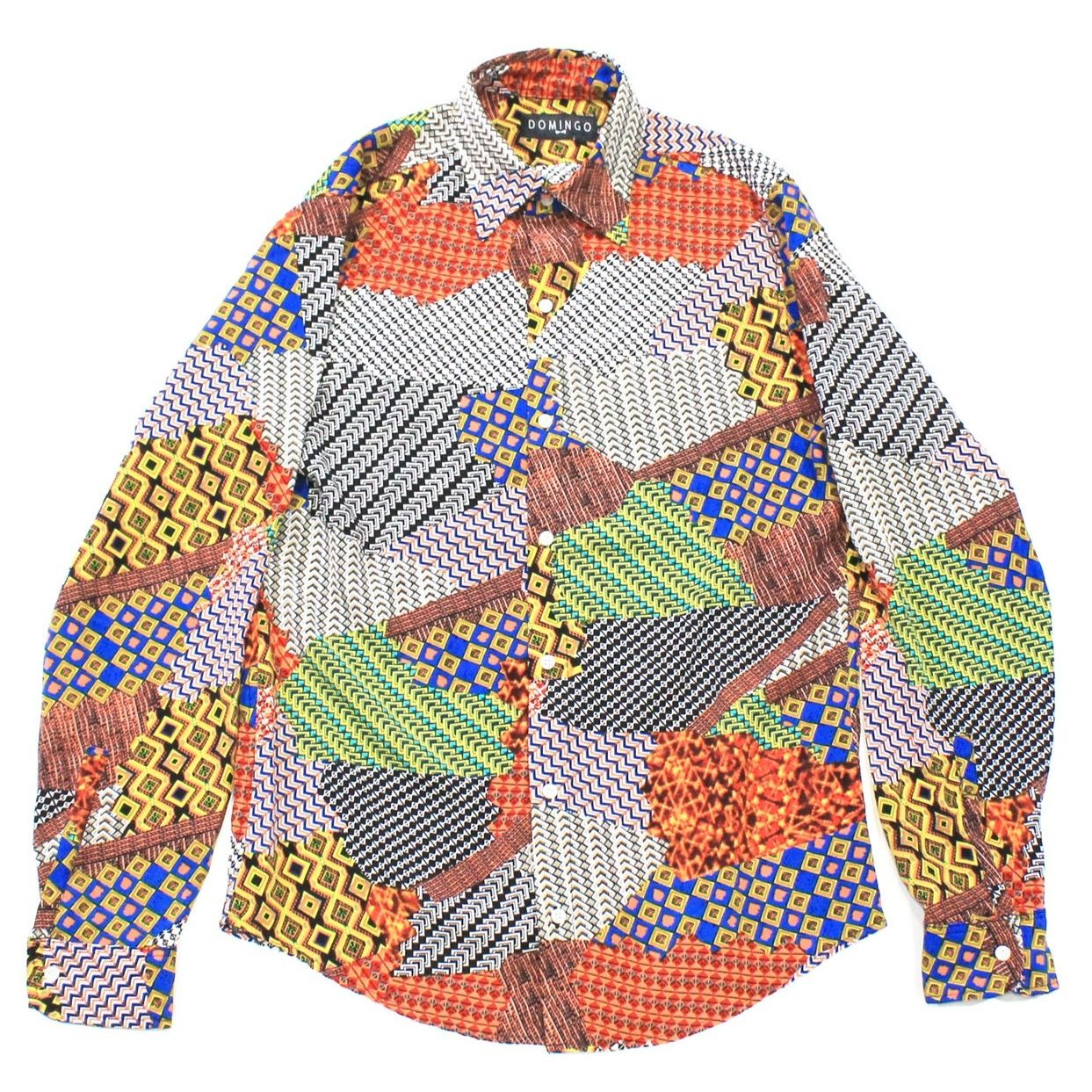 DOMINGO / Patchwork print shirt