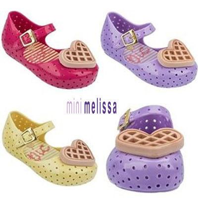 ☆正規輸入☆ミニメリッサ☆melissa☆ハートのクッキーが可愛いラバーシューズ(2色)★ Heart Cookie Sandals