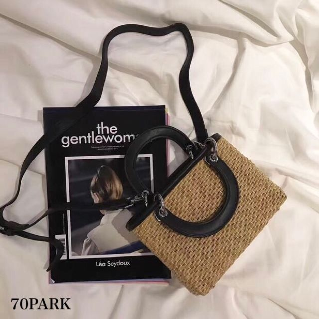 #2way Square Basket Bag スクエア型 かご ショルダー バッグ 全5色  カゴバッグ  ハンドバッグ