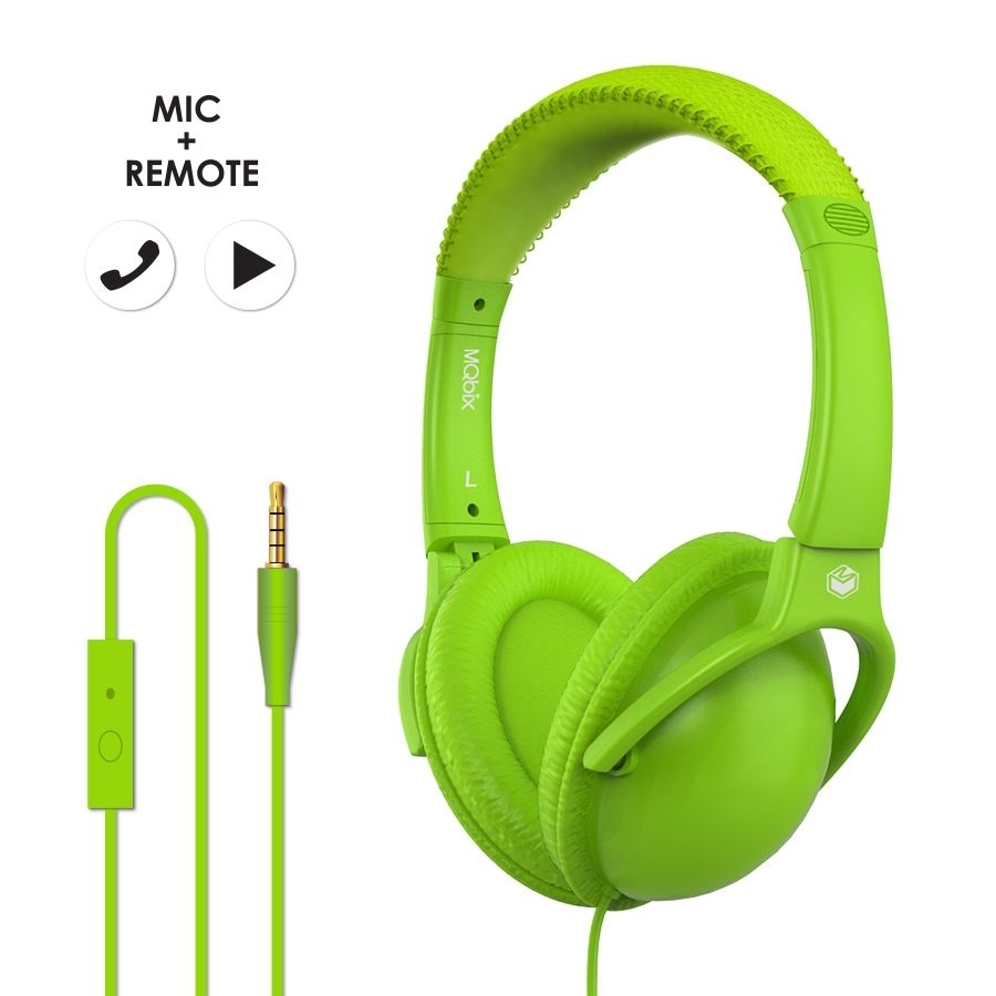 MQbix Acoustics Co.  MQHT560  Stereo Headphone GREEN