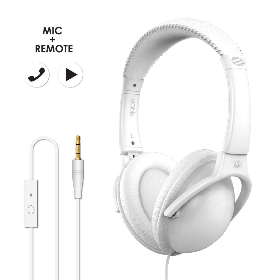 MQbix Acoustics Co.  MQHT560  Stereo Headphone WHITE
