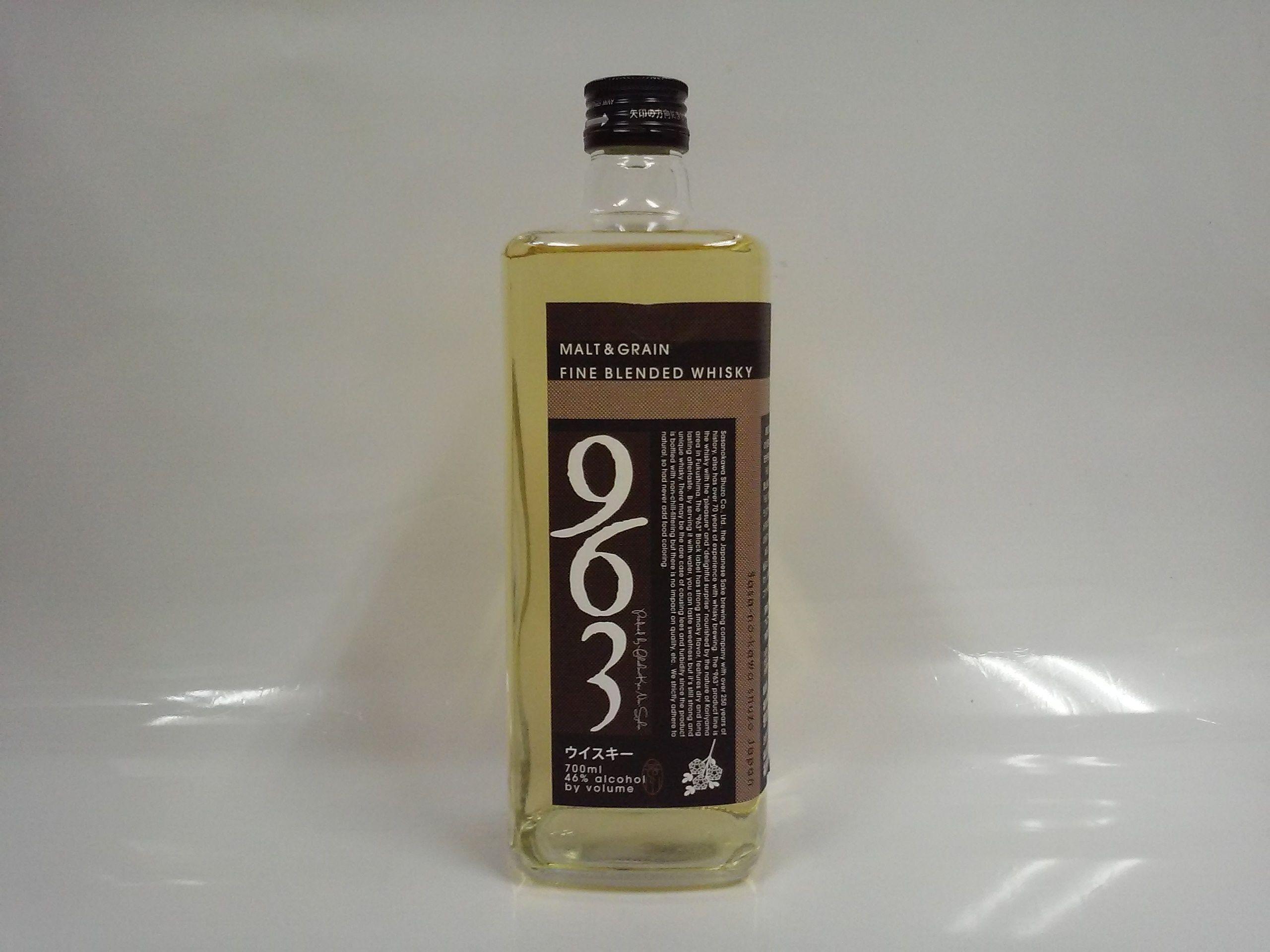 笹の川酒造「ブレンデッドウイスキー 963」黒ラベル 46% 700ml