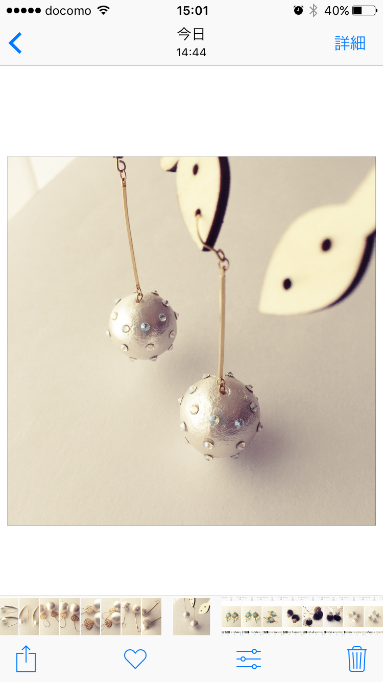 dot pearl drop earrings G