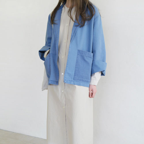 washed cotton manly jacket