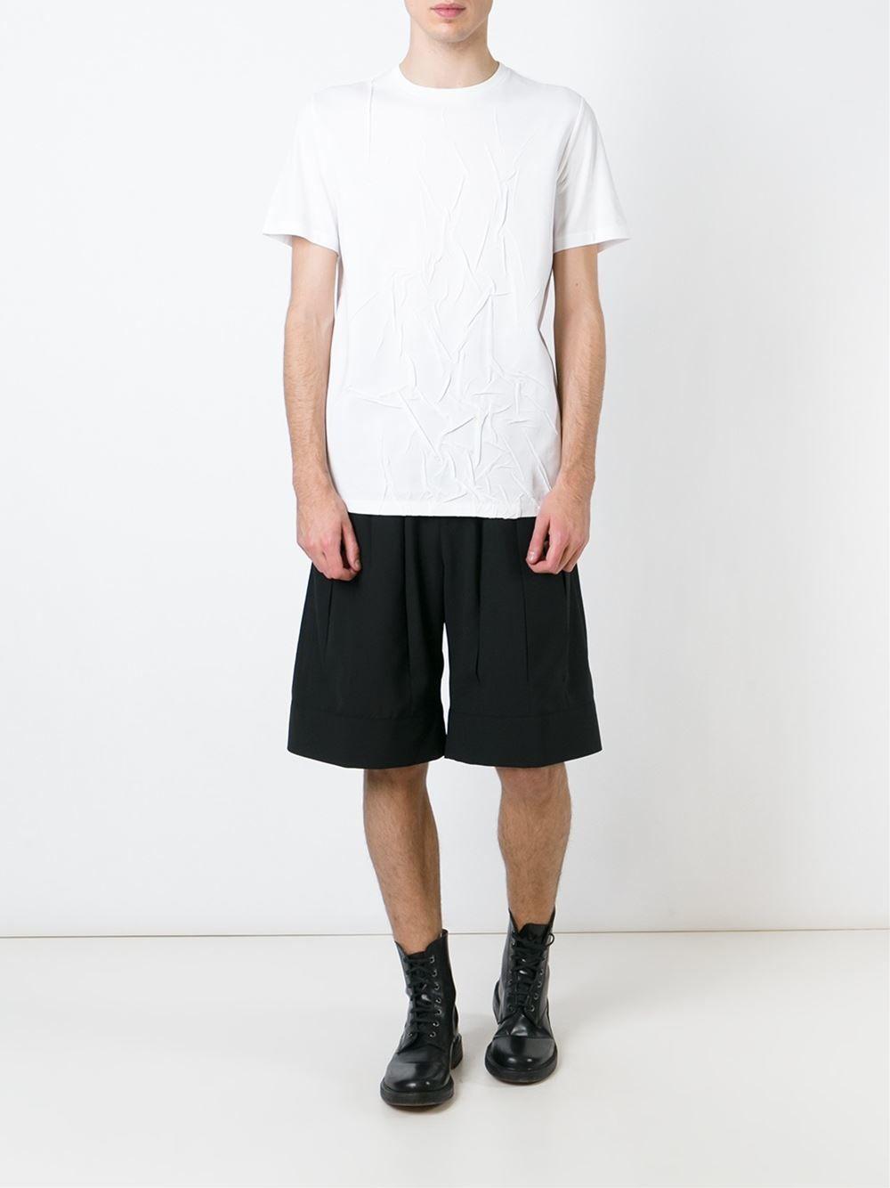 MAISON MARGIELA /// メゾンマルジェラ Wrinkled T-shirts しわ加工Tシャツ (WHT) 白