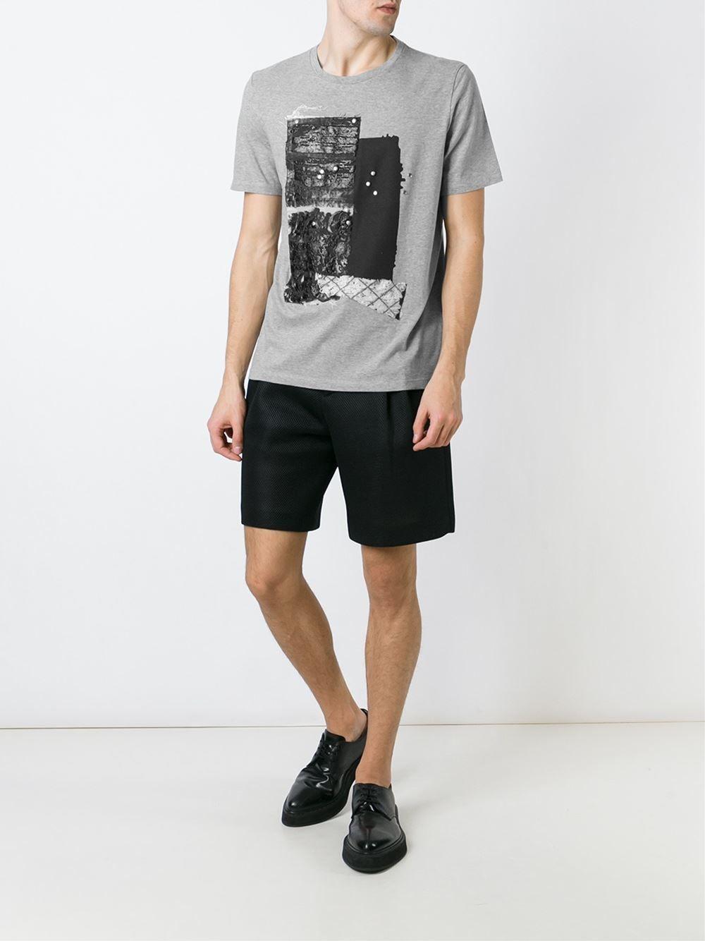 MAISON MARGIELA /// メゾンマルジェラ Textured T-Shirts (Grey) テクスチャードTシャツ グレイ