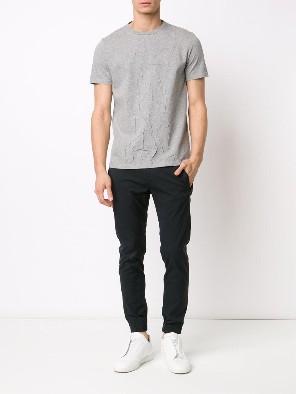 MAISON MARGIELA /// メゾンマルジェラ Wrinkled T-shirts しわ加工Tシャツ (Grey)