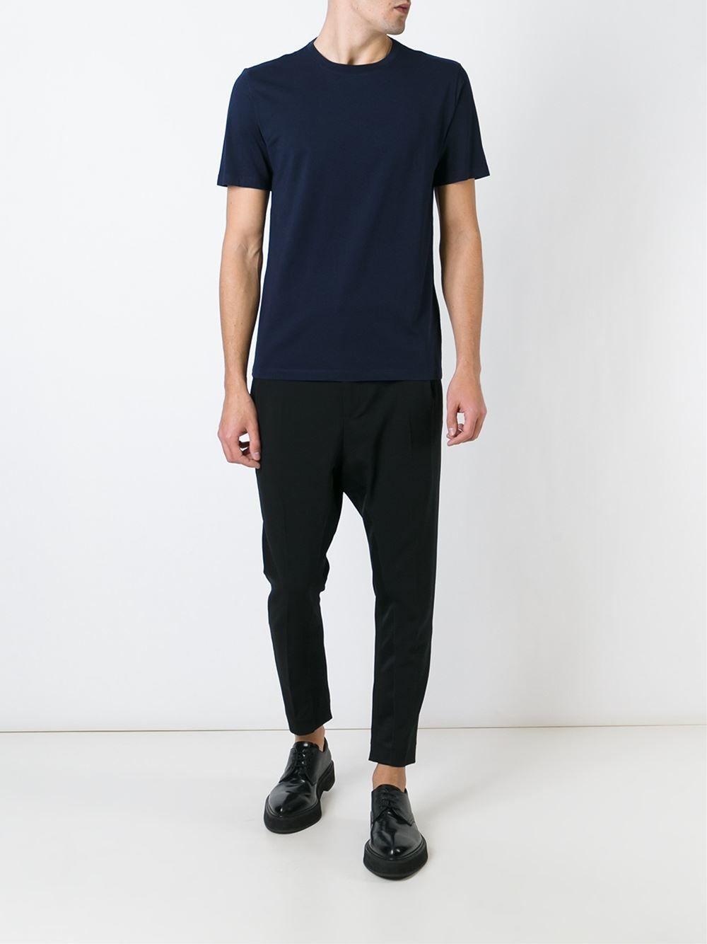 MAISON MARGIELA /// メゾンマルジェラ Round Neck T-Shirts (NAVY) ラウンドネックTシャツ ネイビー