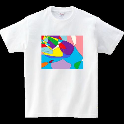 *自由発想の抽象画原画Tシャツです。
