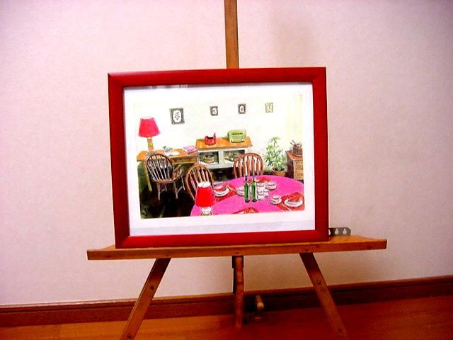 *食卓  /複製水彩画A4ミニアチュール