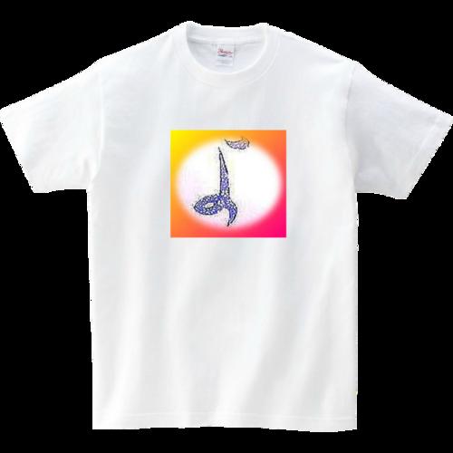 オーダー制作*江戸小紋柄の書道アート<デジタルアレンジ>Tシャツ