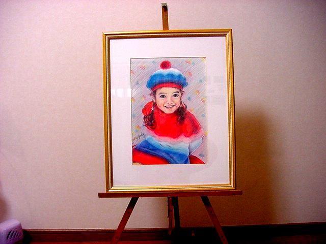 *少女NO-2*複製カラーペンシル画/A4